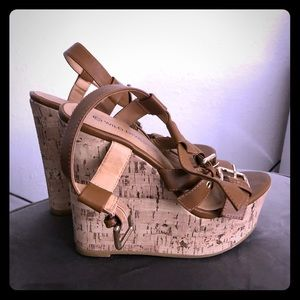 Wild Diva cork wedges